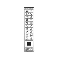 alte broschen großhandel-PS Emaille Pins Brosche Abzeichen Cartoon PS Symbolleiste Old School PS Broschen Revers Pin Zink-Legierung Schmuck Geschenk für Designer Student