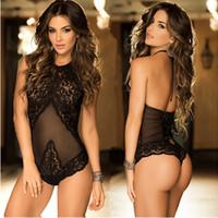 5102cddbbf8952 Kaufen Sie im Großhandel Heiße Frauen Sexy Backless Overall Bodysuit ...