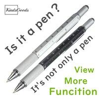 Wholesale multifunction screwdriver resale online - Creative Multifunction Ball point Pen Level Caliper Screwdriver Multi function Capacitance Ballpoint Pen