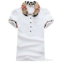 camisas para mulheres venda por atacado-Designer de Mulheres T Camisas de Impressão de Alta Qualidade Rodada Designer de T-shirt Modelos de Curto-mulheres Camisas Polo Atacado