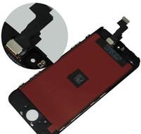 iphone lcd ekran kapağı toptan satış-Apple iPhone 5C Için 1 ADET Kabul Edilebilir 5 S 5G Ile siyah Ekran LCD Dokunmatik Ekran Digitizer Yedek Çerçeve Kapak Açık Araçları Ücretsiz Gemi