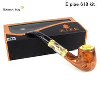 holz elektronische zigarettenbatterie großhandel-Elektronische Zigarette E Pipe 618 Kit Verdampfer-Kit mit eingebauter Holzbatterie gegen Kamry K1000 Guardian Vape