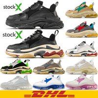 Wholesale plaid sneakers mens for sale - Group buy DHL TOP Quality Triple S fashion Paris Dad Shoes Golden Vintage Tripler Casual Platform mens women breathable sneakers