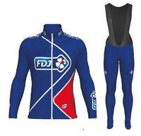 Wholesale winter cycling fdj for sale - WINTER FLEECE THERMAL CYCLING LONG JERSEY ROPA CICLISMO BIB PANTS FDJ PRO TEAM DESIGNS GEL PAD PICK SIZE XS XL