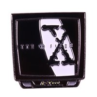 Wholesale x files for sale - Group buy The X Files badge thrill horror scream pin mysterious story retro TV brooch cool accessory