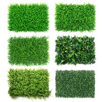 Wholesale grass for wall decoration for sale - Group buy 40x60cm artificial turf grass mat Green Artificial Plant Lawns Landscape Carpet moss wall for party home garden decoration