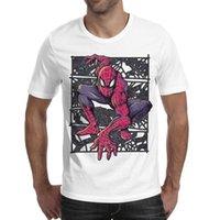 diseño de imágenes tops al por mayor-Imágenes de Design With Spiderman Camisetas para hombre Tops Caza suave Camisas con cuello redondo de algodón Hombre Gimnasio Camiseta Camisetas de moda para hombre