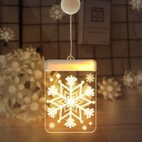 Wholesale window color lights for sale - Group buy LED Christmas D Snowflake Night Light Warm White Color Touch Control DIY Christmas Window Decorations Night Lights New Design