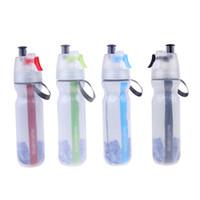 yeşil plastik sprey şişeleri toptan satış-500 ml Bisiklet Su Şişesi Plastik Bisiklet Bisiklet Mist Sprey Su Şişesi Bisiklet Aksesuarları Kırmızı / Yeşil / Mavi / Siyah