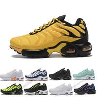 zapatillas de correr con amortiguación superior al por mayor-Nike Air TN Plus Niños 2019 Zapatos nuevos para niños Zapatos para correr Niño Niña Niño Juvenil Entrenador Cojín Superficie Transpirable Deportes zapatillas de alta calidad tn