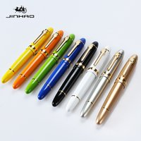 schwarze führerschein großhandel-Hochwertige JINHAO 159 Metallkugelschreiber Business Office Executive Schwarzer Tinte Stift zum Schreiben