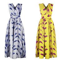 mini saias apertadas azuis venda por atacado-Vestidos Longos Africanos Mulheres Roupas Tradicionais Africano Dashiki Ankara Maxi Sundress Elegante Vários Desgaste Batik Roupas de Verão