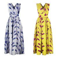 vêtements africains traditionnels femmes achat en gros de-Longues robes africaines Vêtements africains traditionnels africains Dashiki Ankara Maxi Robe d'été Élégant Plusieurs Vêtements Batik Vêtements D'été