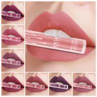 Wholesale beauty cosmetics sale resale online - KKW Matte Velvet Matte Lip Gloss liquid Lipstick Hot Makeup Lip Glaze Cosmetics Beauty Accessories With Retail Box Factory Sale Directly