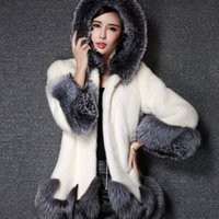 beyaz sahte kürk ceket toptan satış-DEVOLOVE Artı Boyutu 5XL Womens Kabarık Taklit Tilki Kürk Palto Ceketler Beyaz Sahte Kürk Palto Kadınlar Kış Sıcak Ceket Kadın Kabanlar
