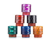 Wholesale ecig new drip tip resale online - New Honeycomb serpent Epoxy Resin Drip Tips For TFV8 Atomizer Tank Cloud Beast Atomizers Mouthpiece Vape Ecig with Acrylic