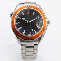 relógios de luxo laranja venda por atacado-2019 Hot New alta qualidade fábrica moda master série co-axial orange rotativa cerâmica moldura automática máquinas homem relógios