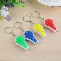 Wholesale uv light keychain resale online - Uv Money Detector Led Keychain Colors Fashion Key Ring Mini Light LED Key Chain Money Detector Light GGA2301