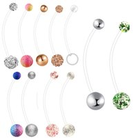 Wholesale pierce jewelry for sale - Group buy Flexible Acrylic Pregancy Belly Navel Button Ring Industrial Barbell Earring G Piercing Cartilage Body Jewelry