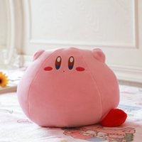 kızlar için popüler oyuncaklar toptan satış-Popüler oyun büyük boy 25cm Kirby Kirby sevimli peluş oyuncak bebek karikatür peluş yumuşak yastık ve yastık Kız sevdiğiniz hediye
