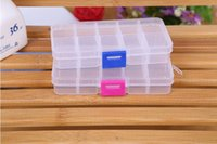 Wholesale clear storage boxes for jewelry for sale - Group buy Adjustable Compartment Plastic Clear Storage Box for Jewelry Earring Tool Container SN2065
