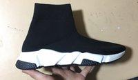 mens fasion venda por atacado-Sapatos de grife mens fasion Velocidade elástica Malha meia efeito ankle boot amortecedor chocante tênis para mulheres dos homens tamanho 35-46