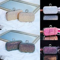 Wholesale party pink clutches resale online - Women Evening Clutch Bag Shimmering Diamante Wedding Prom Club Party Handbag NEW