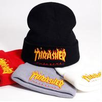 ingrosso coppie cappelli-Cappelli hip-hop tricottati casuali dei cappelli del cranio del progettista di marca di vendita calda dei cappelli delle coppie Cappelli caldi di sport della molla Trasporto libero
