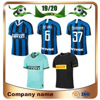 uniformes de futbol de milan al por mayor-2020 Milan LUKAKU Tercera camiseta de fútbol visitante 19/20 local Azul ALEXIS Camiseta de fútbol Visitante JOVETIC LAUTARO CANDREVA SKRINIAR Uniforme de fútbol visitante