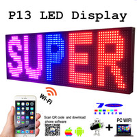 Wholesale electronics signs resale online - LED Programmable Electronic P13 RGB COLOR OUTDOOR Sign LED Display quot X quot USB Phone WIFI Control Open Running Message Board