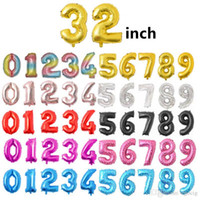 Wholesale party supplies for sale - Group buy Helium Air Balloon Number Letter Shaped Inch Gold Silver Inflatable Ballons Birthday Wedding Decoration Event Party Supplies