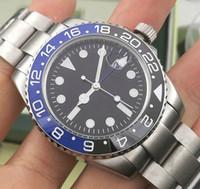batman uhr mode groihandel-Fashion New GMT Keramik-Lünette Mens-mechanischer Edelstahl-automatische 2813 Bewegung Designer-Uhr-Mann-Sport-batman Uhren Armbanduhr