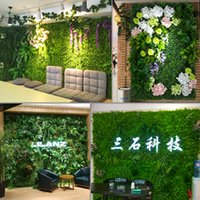 Wholesale green grass home decor for sale - Group buy Luyue Plant Wall Artificial Lawn Boxwood Hedge Garden Backyard Home Decor Simulation Grass Turf Rug Lawn Outdoor Flower wall SH190920