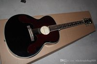 Wholesale 43 inch guitar resale online - new black inch Acoustic Guitar can add Pickup add money