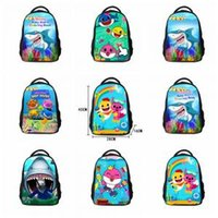 Wholesale baby door gift for sale - 8styles Baby shark Schoolbag bag student backpack Pouch kids cartoon Shark backpack kids gift Baby School Rucksack FFA1598
