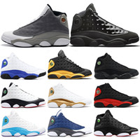 ff84cf735098 2019 Basketball Shoes 13s Mens Atmosphere Grey Cap and Gown Melo He Got  Game Black Cat Playoff Flint DMP Sports Sneakers 7-13