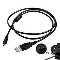 kablo usb uc e6 toptan satış-Nikon Coolpix S4000 S4200 S5100 S70 S80 S800C S8000 D3200 D5000 L20 L22 L100 L120 Dijital Kamera için 1,5m Değiştirme USB Kablo UC-E6