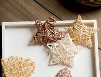 actividades de suministros para la fiesta al por mayor-100 unids bricolaje corazón de ratán estrella hogar cumpleaños fiesta de bodas corona árbol de navidad jarrón decoración suministros DIY adorno para actividades