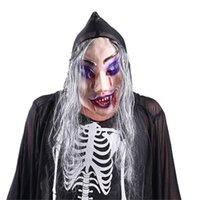 máscara de látex para homens venda por atacado-Horror Máscara de Halloween Homem Terrorista Látex Chapelaria Masquerade Festas Presentes Traje Festas Carnaval Festiva Atmosfera Brinquedos