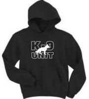 ingrosso k tedesco-Felpa con cappuccio K 9 Unit Police German Shepherd - Uomo