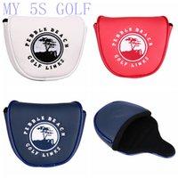 manyetik bayrak toptan satış-Golf Manyetik Mallet Atıcı Kapak Amerika ABD Bayrağı Golf Linkler Atıcı Kafa Pebble Plaj Atıcı ABD Bayrağı, Mavi / Beyaz / Kırmızı