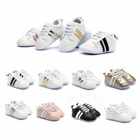 Wholesale boys fashion sneakers resale online - Newborn Baby Sneakers Fashion Toddler Shoes Boys Girls Soft Bottom Shoes Baby Kids Designer Sport First Walkers HHA578