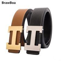 ingrosso lettera h-Cinture da uomo in vera pelle Cinture da uomo in vera pelle Cinture con logo H Cintura in oro