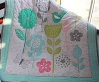 Wholesale bird crib bedding set for sale - New arrival Crib bedding set Cotton Baby crib set Baby cuan quilt Cot bedding set Embroidery Sunflower Butterfly bird flower
