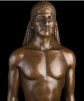 nackter kunstmann großhandel-TLIE BRONZES Griechische Mythologie Bronzeskulptur mythische nackte Mann Statue Kunstsammlung Kouros Skulptur Kollektionen Skulpturen