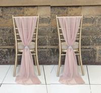 ingrosso sospensioni di sedia da fiore-Attiva Destop Garden Formal Wedding Coprisedile Back Sash Romantic Oceanfront Flower Banquet Decor Bow Telai per sedie di compleanno di Natale