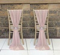 yılbaşı dekoru toptan satış-Destop Bahçe Resmi Düğün Sandalye Kapak etkinleştirin Geri Sashes Romantik Oceanfront Çiçek Ziyafet Dekor Yay Noel Doğum Günü Sandalye Sashes