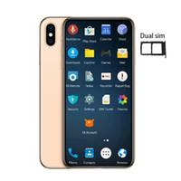 основные теги оптовых-Зеленая бирка 6.5 дюймов Goophone XS Макс четырехъядерный MTK6580 лицо ID смартфоны 1g / 16G показать поддельные 4G / 256G 4G lte разблокирован телефон