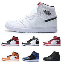 separation shoes 2c1c3 770a3 1S Mid OG 1 top 3 Herren Basketballschuhe Air High Banned Hochwertige  Triple Weiß Schwarz Rot Designer Luxus Sport Turnschuhe