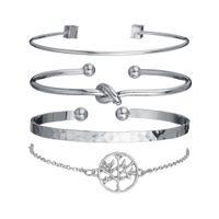 gaucher creux achat en gros de-4pcs nouveaux bijoux de la main feuilles creuses cercle bracelet de chaîne de perles bracelet bracelet des femmes cadeau pour la famille, amis.
